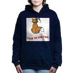 cat-talk-to-the-tail Women's Hooded Sweatshirt