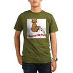 cat-talk-to-the-tail Organic Men's T-Shirt (dark)