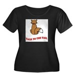 cat-talk-to-the-tail Women's Plus Size Scoop Neck