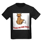 cat-talk-to-the-tail Kids Dark T-Shirt