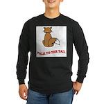 cat-talk-to-the-tail Long Sleeve Dark T-Shirt