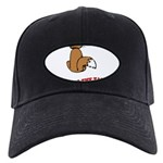 cat-talk-to-the-tail Black Cap with Patch