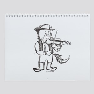 CatoonsT Fiddle Cat Wall Calendar