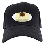 cats-diary Black Cap with Patch