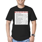 Cats Are Better Than Dogs Men's Fitted T-Shirt (da