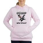 FIN-stress-cat... Women's Hooded Sweatshirt