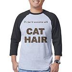 FIN-cat-hair-access... Mens Baseball Tee