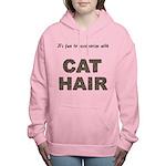 FIN-cat-hair-access... Women's Hooded Sweatshirt