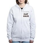 FIN-cat-hair-access... Women's Zip Hoodie