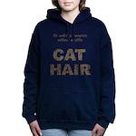 FIN-outfit-cat-hair... Women's Hooded Sweatshirt