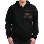 FIN-outfit-cat-hair... Zip Hoodie (dark)