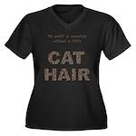 FIN-outfit-cat-hair... Women's Plus Size V-Neck Da