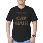 FIN-outfit-cat-hair... Men's Fitted T-Shirt (dark)
