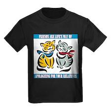 FIN-friends-relatives Kids Dark T-Shirt