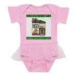 FIN-cats-house-home Baby Tutu Bodysuit