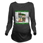 FIN-cats-house-home Long Sleeve Maternity T-Shirt