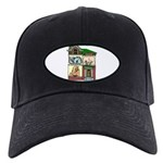 FIN-cats-house-home Black Cap with Patch