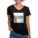 Cat Spoken Here Women's V-Neck Dark T-Shirt