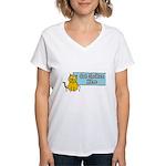 Cat Spoken Here Women's V-Neck T-Shirt