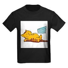 cartoon-fat-cat Kids Dark T-Shirt
