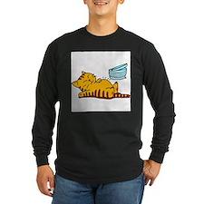 cartoon-fat-cat Long Sleeve Dark T-Shirt