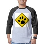 cat-crossing-sign.... Mens Baseball Tee