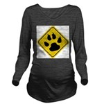 cat-crossing-sign.... Long Sleeve Maternity T-Shir
