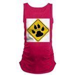 cat-crossing-sign.... Maternity Tank Top