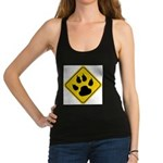 cat-crossing-sign.... Racerback Tank Top