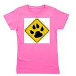 cat-crossing-sign.... Girl's Tee