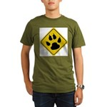 cat-crossing-sign.... Organic Men's T-Shirt (dark)