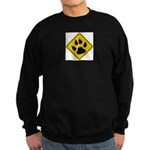 cat-crossing-sign.... Sweatshirt (dark)