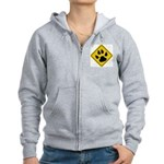 cat-crossing-sign.... Women's Zip Hoodie