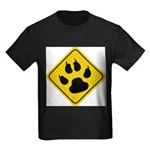 cat-crossing-sign.... Kids Dark T-Shirt