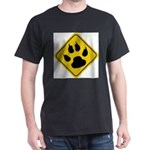 cat-crossing-sign.... Dark T-Shirt
