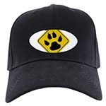 cat-crossing-sign.... Black Cap with Patch