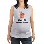 When I Die Maternity Tank Top