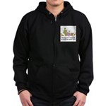 too-many-cats Zip Hoodie (dark)