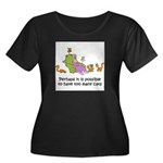 too-many-cats Women's Plus Size Scoop Neck Dark T-