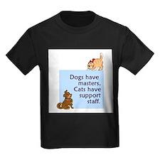 cats-support-staff Kids Dark T-Shirt