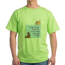cats-support-staff Green T-Shirt