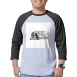 FIN-cats-playing-poker Mens Baseball Tee