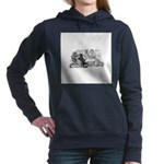 FIN-cats-playing-poker Women's Hooded Sweatshirt