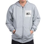 FIN-cats-playing-poker Zip Hoodie