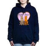 FIN-be-kind-to-animals Women's Hooded Sweatshirt