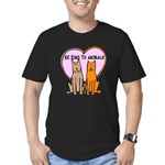 FIN-be-kind-to-animals Men's Fitted T-Shirt (dark)