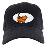 3-FIN-cattitude Black Cap with Patch