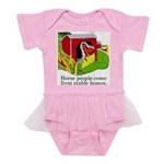 Horse People Stable Homes Baby Tutu Bodysuit