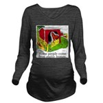 Horse People Stable Homes Long Sleeve Maternity T-