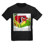 Horse People Stable Homes Kids Dark T-Shirt